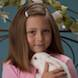 Easter Special: girl in pink sweater with bunny