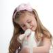 Easter Special: picture of girl pink bow with bunny