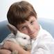 child portrait boy with easter bunny