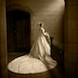 01 columbia missouri wedding photographer: bride in vestibule at church with train