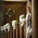 columbia missouri wedding photographer: ring bear in pews before ceremony