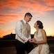 jefferson city missouri wedding photographer: bride and groom at sunset